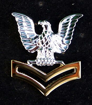 2nd SECOND CLASS PETTY OFFICER GOLD GOOD CONDUCT HAT PIN UP E-5 CROW US NAVY