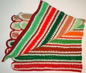 image is loading vtg crochet mile a minute afghan christmas colors - Why Are Red And Green Christmas Colors