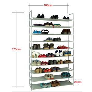10-Tier-50-Pair-Shoe-Rack-Shelf-Fabric-Tier-Space-Saving-Organizer-Shelf-Storage
