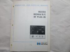 HEWLETT PACKARD 86235A 86240A /B/C  RF PLUG-IN OPERATING & SERVICE MANUAL