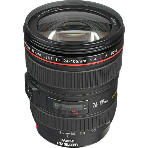 1 of 1 - Summer Splash Sale 24-105mm New Canon EF 24-105 mm f/4L IS USM Lens White Box