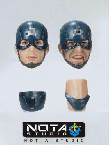 In-stock 1//12 NOTA STUDIO Helmet Cap Head Sculpt 2*Heads