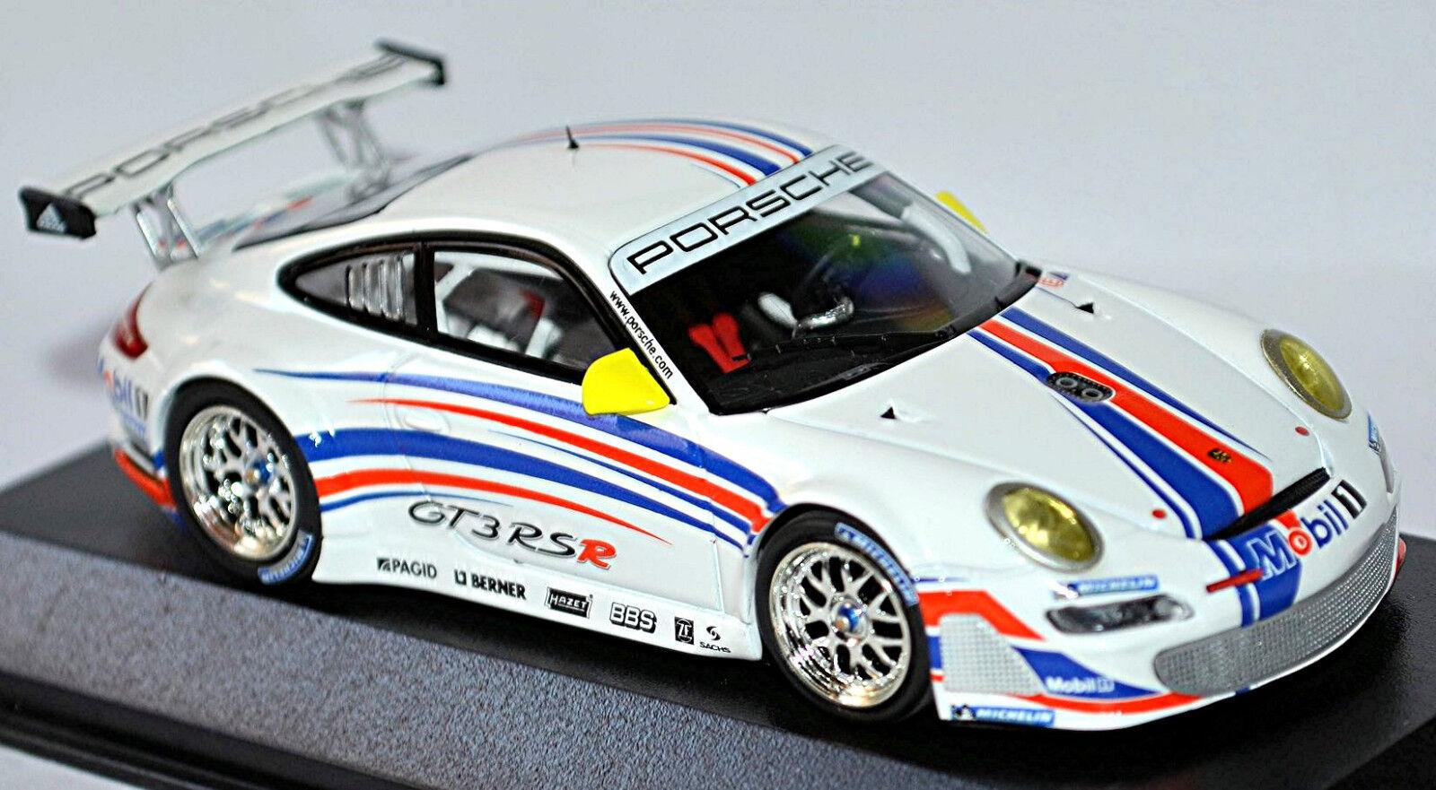 Porsche 911 gt3 rsr 2006 997, diseño de un Porsche blancoo 1  43, mini campeón.