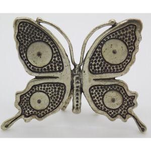 Vintage-Massiv-Silber-Italienische-Hergestellt-Leben-Groesse-Schmetterling-Figur