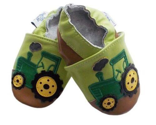 Baby apretamos tractor track tamaño 0-6 meses-s-de cuero genuino nuevo