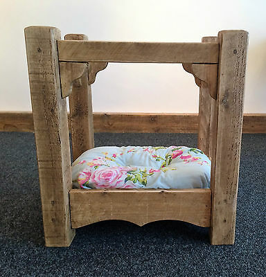 BESPOKE SOLID LUXURY FOUR POSTER DOG BED / CAT BED - ALL SIZES - CUSTOM MADE