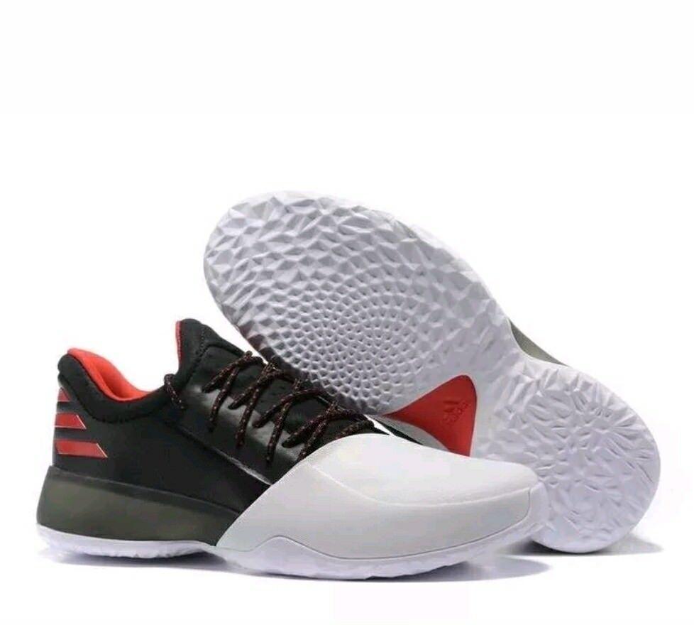 NEW!! Adidas James Harden Volume 1 Basketball, White/Black/Red BW0546