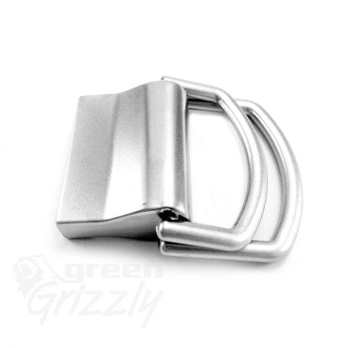 Plain Belt Buckle solid nickel plated for 40 mm Webbing Repair DIY  AZM+AUB