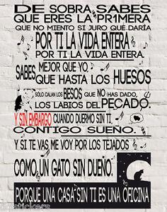 Vinilo Decorativo 356 Y Sin Embargo Sabina Sticker Paredes Wall Pegatina Ebay
