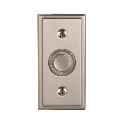 NEW Quality Nickel Wired Outside Home Doorbell Door-Bell LED-Lighted Push-Button