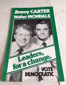 1976 Jimmy Carter Walter Mondale Original Vintage Campaign Brochure Foldout