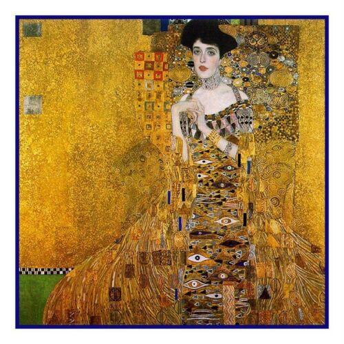 Art Nouveau Gustav Klimt Portrait Adele #2 Counted Cross Stitch Chart Pattern