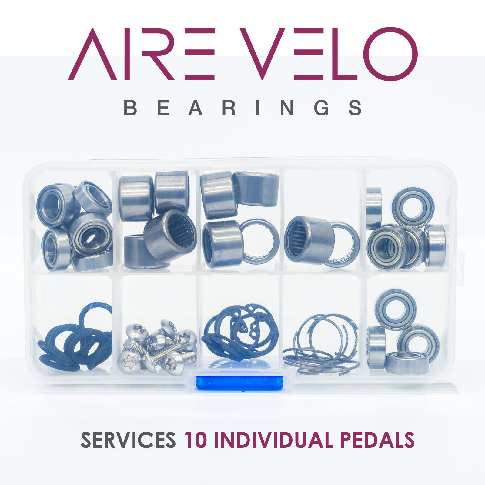 SPEEDPLAY PEDAL  BEARING BOX SET - SERVICES 10 PEDALS  fast shipping and best service
