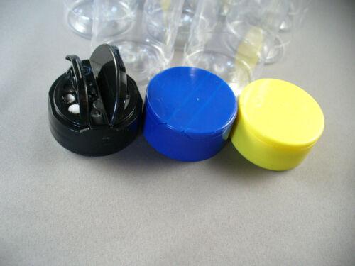 10 PCS SPICE BOTTLES JARS 4 oz PLASTIC w//Dual Sifter Caps 3 Color Choices 4oz