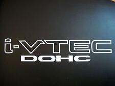 (WHITE) pair i VTEC DOHC Vinyl decals emblem sticker fender door Honda Civic Si