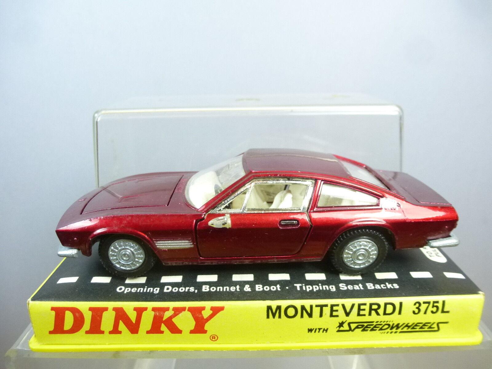 Vintage DINKY  TOYS modèle No.190 Monteverdi 375 L coupé  Perspex box  En parfait état, dans sa boîte  Style classique