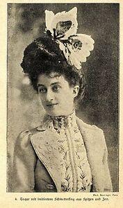 Toque Mit Imitiertem Schmettereling Aus Spitzen Und Jett * Bilddokument 1900