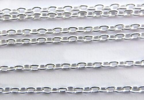 Silberkette Gliederkette Ankerkette Ø2x3mm versilbert