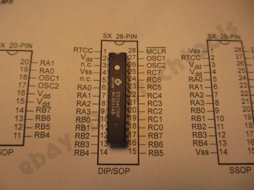 1pc UBICOM Scenix SX28AC//DP microcontroller 50MHZ 50MIPS Parallax  USA seller