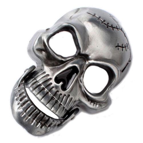 Vintage Skelett Schädel Kopf Gürtelschnalle Western Cowboy Herren