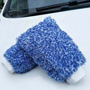 Finer-Detail-Super-Thick-Microfibre-Wash-Mitt-Car-Detailing-Double-Sided-W8H