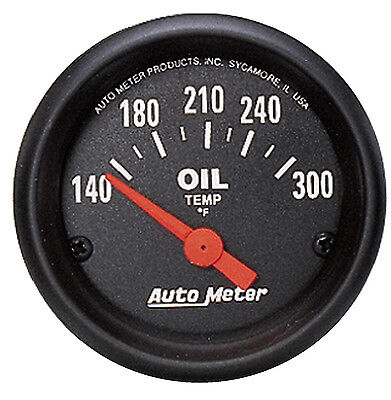 "Auto Meter Z-Series Electric 140-300 Deg F Oil Temperature Gauge 2-1/16"" (52mm)"