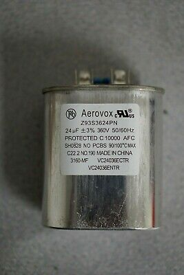 aerovox 24uf 540 vac 50//60hz lighting capacitor Z93S5424N05A3