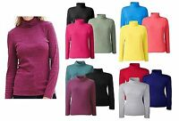 Simply Be  16/18 20/22 24/26  Plus Size Cotton Roll Neck Jumper In Blue Pink Red