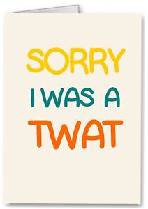 Details about Sorry - Funny Rude Joke Card, Girlfriend Wife Boyfriend  Friend Apology Love You