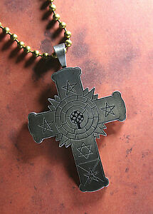 Pewter rose cross necklace rosy cross rose croix golden dawn image is loading pewter rose cross necklace rosy cross rose croix aloadofball Choice Image