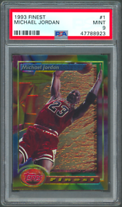 1993 Topps Finest #1 Michael Jordan Card PSA 9 (47788923)
