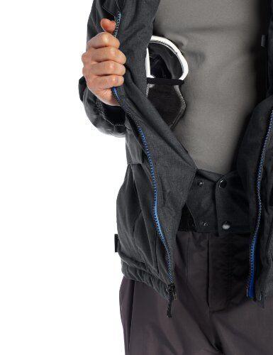 Zeroxposur Men/'s Ski Snowboard Hooded Jacket Coat w//Beanie Blue Sz L  ret $200