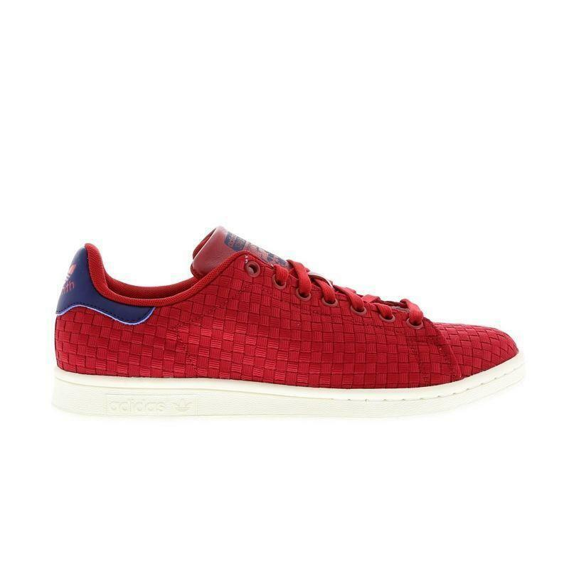 Mens ADIDAS STAN SMITH Red Trainers BA8445