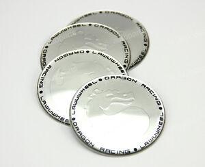 4x-65mm-Wheel-Center-Hub-Cap-Emblem-Badge-Decal-Sticker-Dragon-For-BMW-Silver