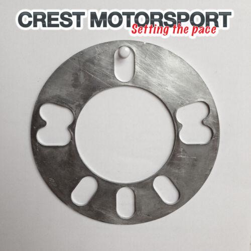 4 5mm /& 5-hole UNIVERSALE LEGA RUOTA Distanziatore in alluminio piastra // zeppa 2 COPPIA Montante