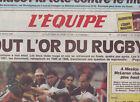 journal l'equipe 27/05/89 RUGBY AVANT FINALE CHAMPIONNAT TOULON TOULOUSE