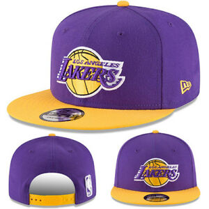 ee2a5117 Details about New Era NBA Los Angeles Lakers Snapback Hat Hardwood Classic  2Tone Color Cap