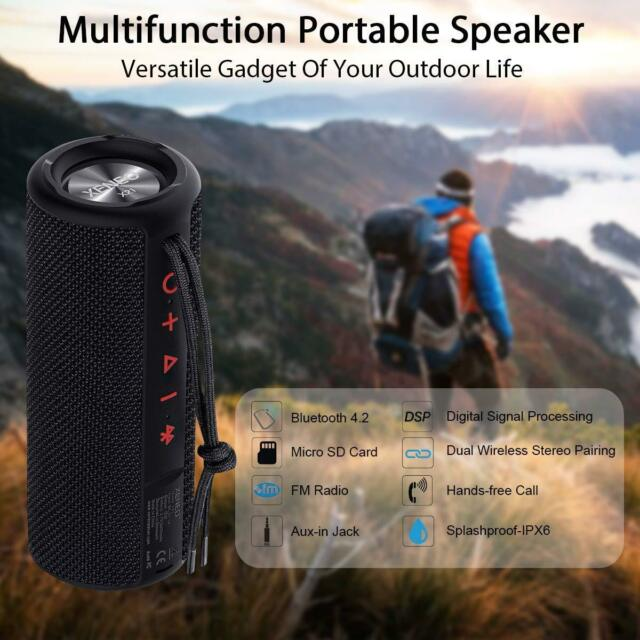 USB /& SD//MMC Ports Black UNIREX DX-4313 Portable Speaker with Radio