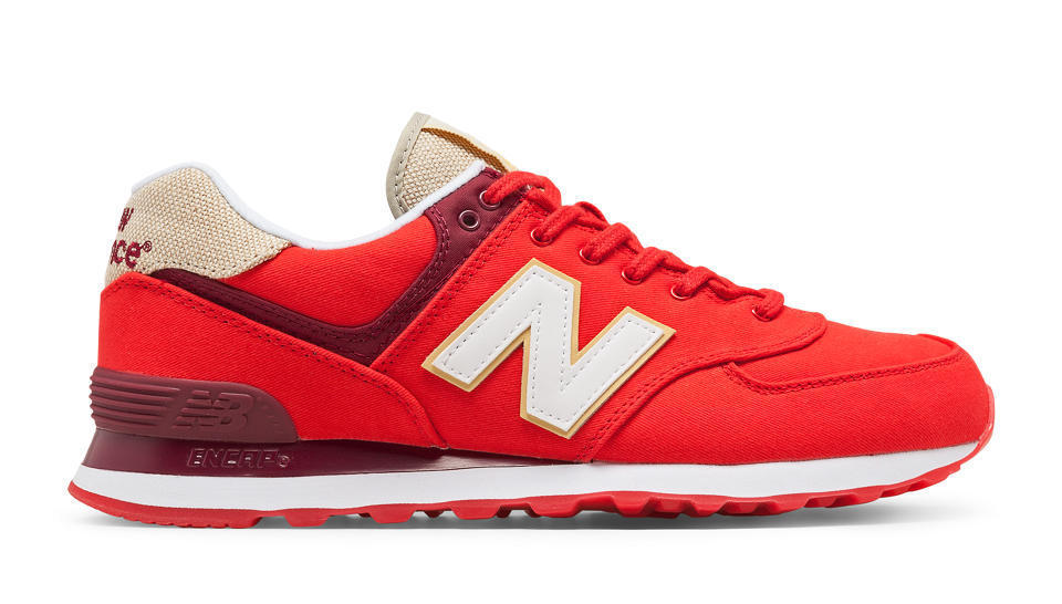 NIB New Balance MENS ML574RTC 574 CLASSICS RETRO BRIGHT RED WHITE SNEAKERS 8-13