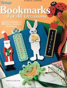 Needlecraft-Shop-BOOKMARKS-FOR-ALL-OCCASIONS-PLASTIC-CANVAS-Patterns-BOOK-New