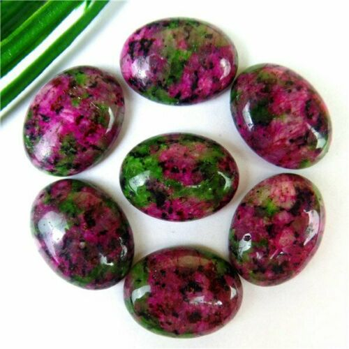 7Pcs Nice Various Natural Stone Mix-and-match Oval Cab Cabochon 20*15*6mm B9635