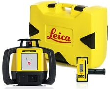 Leica Rugby 610 Rotary Laser Level With Rod Eye 140 And Alkaline Battery Pack