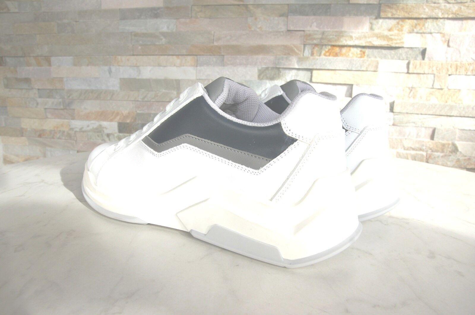 Luxus PRADA Gr 39 5 Herren Turnschuhe Schuhe weiß weiß weiß