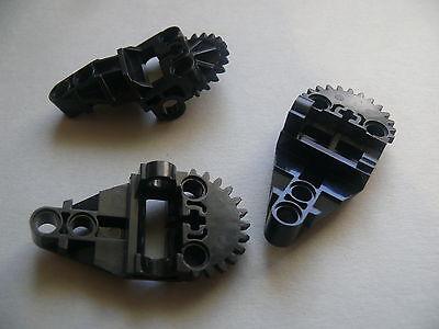 3 black Technic Gearbox Half Lego 3 engrenages noirs set 8500 8502 8523 8521