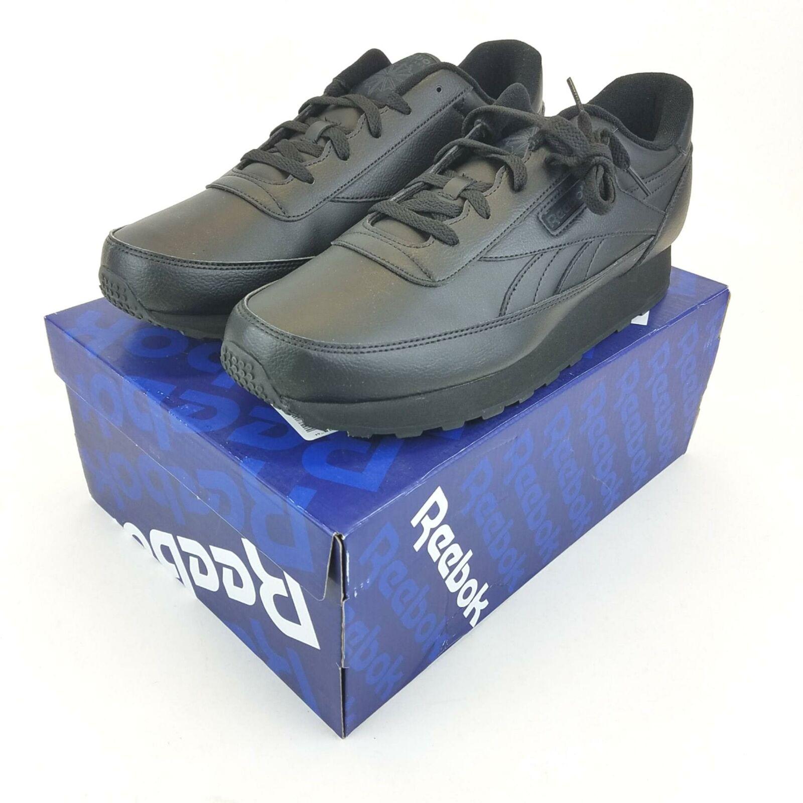 Reebok Classic Renaissance Athletic Casual Mens Shoes 12 Black Leather V66939