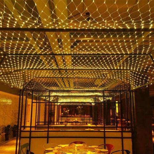 LED Net Mesh String Light 3M 210 LEDs Window Wall Garden Store Xmas Wedding