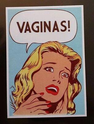 Woman saying vaginas Sticker tablet laptop guitar 386