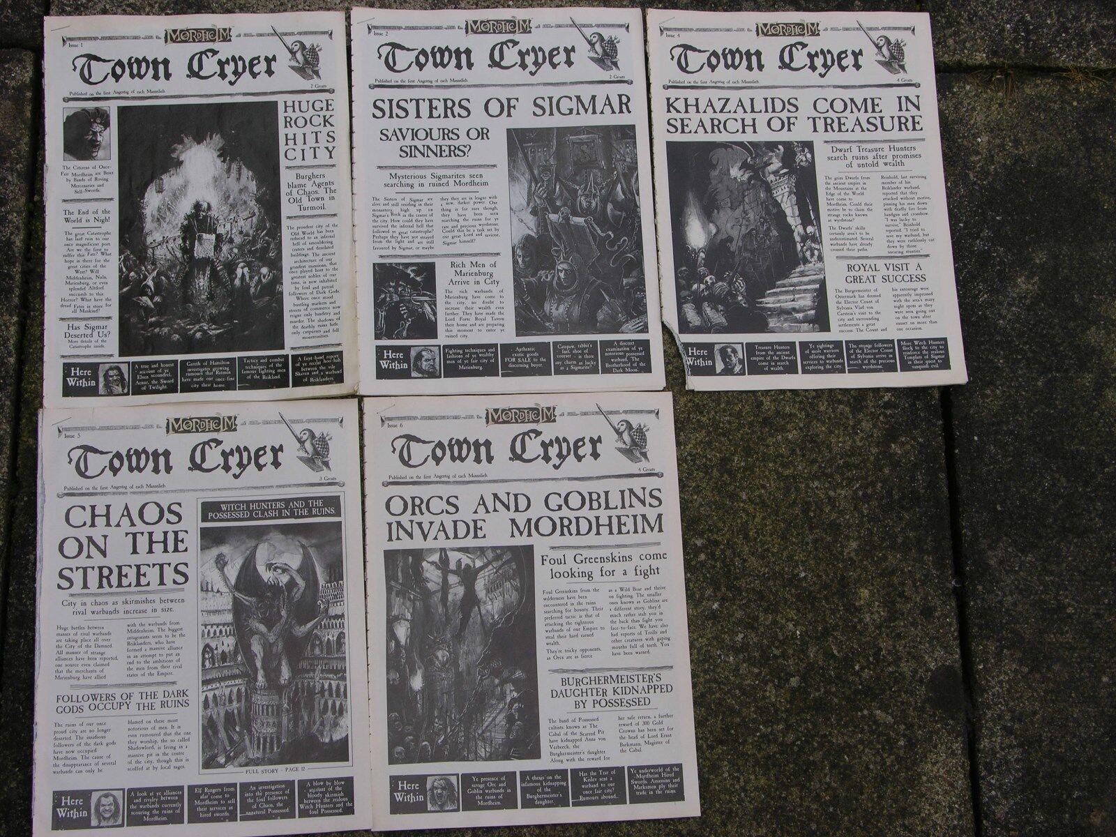 MORDHEIM TOWN CRYER, ORIGINAL ISSUES, ULTRA RARE