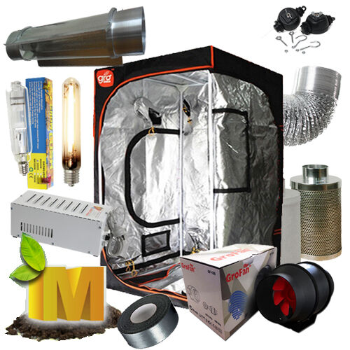250-1000w HPS MH Magnetic Grow Light Kit Cooltube Reflector 1.2m Tent Hydroponic