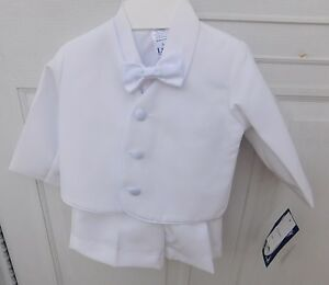 Baby Toddler Ivory Boys Suit Set Eton Shorts Wedding Easter Formal Party G828